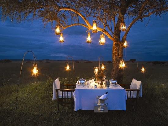 Bush dinner in Serengeti national park